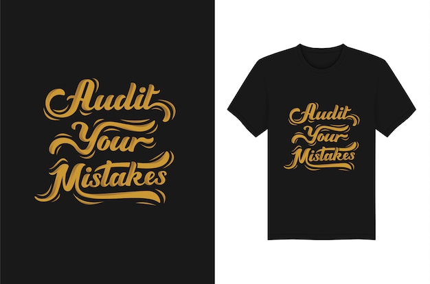 Vérifiez vos erreurs de lettrage typographie t-shirt conception de vêtements