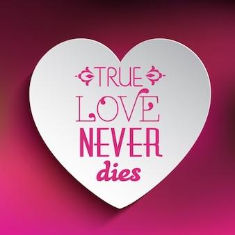 Le véritable amour ne meurt jamais de fond