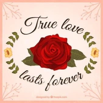 Véritable carte de l'amour