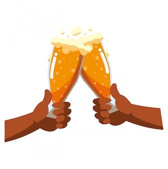 Verre à bière design