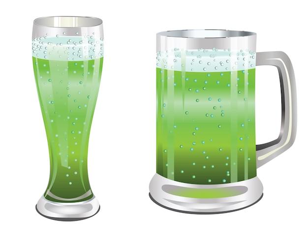 Verre à bière verte