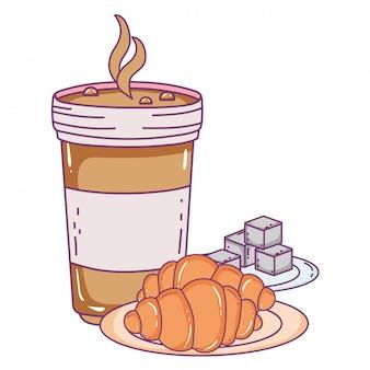 Verre à café glacé isolé