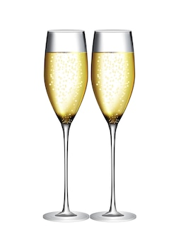 Verre de champagne vector illustration eps10