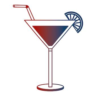 Verre à cocktail boisson alcool paille de citron