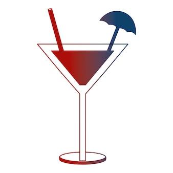Verre à cocktail boisson alcoolique parapluie