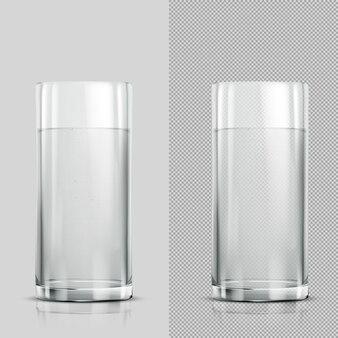 Verre d'eau transparent sur fond clair illustration vectorielle