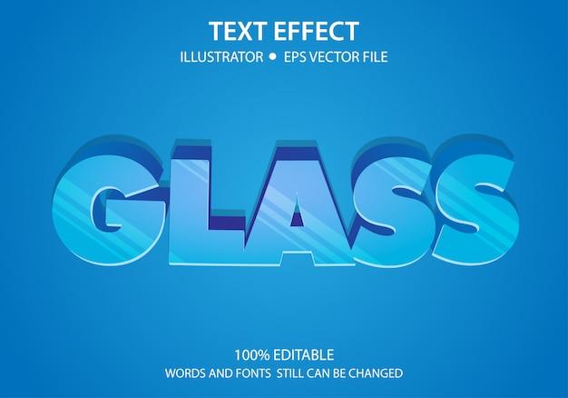 Verre d'effet de style de texte modifiable