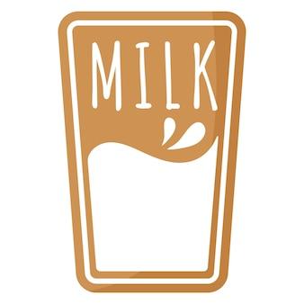 Verre festif de noël de biscuit de pain d'épice au lait recouvert de glaçage blanc.