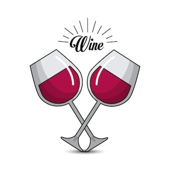 Verre avec icône vin image
