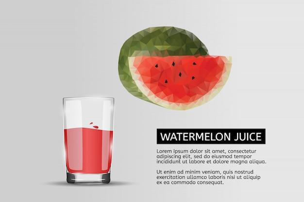 Verre de jus de melon d'eau