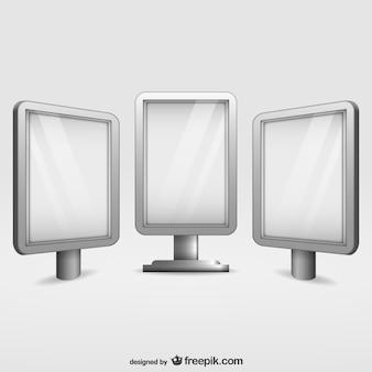 Verre paquet panneaux d'affichage vectoriel