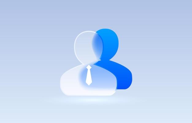 Verre personne leader icône transparente collection signe vecteur