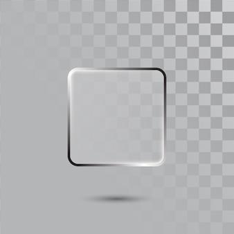 Verre rectangle transparent réaliste