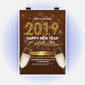 Verre à vin pour la fête du nouvel an