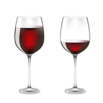 Verre à vin de transparence isolé