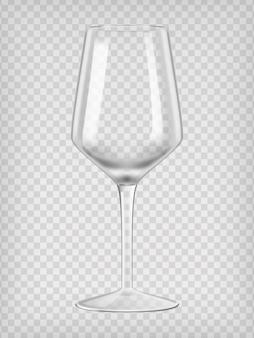 Verre à vin vide. illustration vectorielle réaliste transparent.