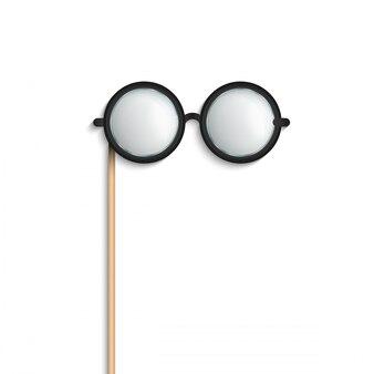 Verres de bâton, lunettes de vue photobooth les accessoires.