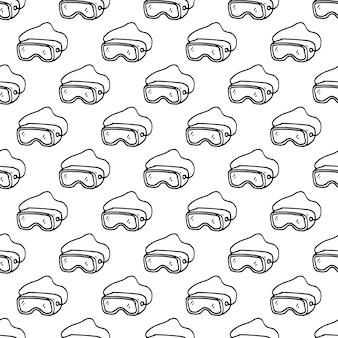 Verres de construction dessinés à la main de modèle sans couture doodle. icône de style de croquis. élément de décoration. isolé sur fond blanc. conception plate. illustration vectorielle.