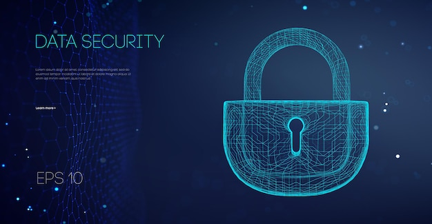 Verrouillage binaire de sécurité des données. attaque de données cloud de sécurité. concept de pare-feu informatique de code de cryptage. l'alarme verrouille les données du serveur. asiatique il prend en charge l'illustration vectorielle.