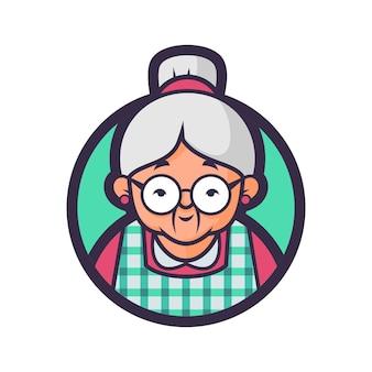 Version d'insigne de cuisine de lunettes de popo