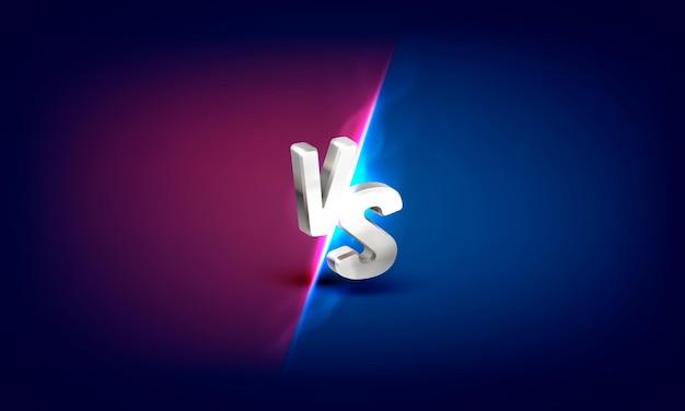 Versus bannière de couverture de jeu sport vs illustration de concept d'équipe