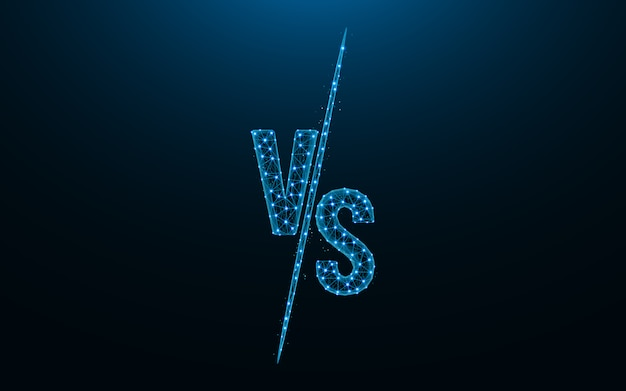 Versus battle low poly design