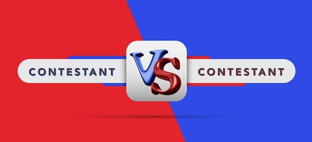 Versus board of rivaux, avec un espace pour le texte. illustration vectorielle. illustration vectorielle