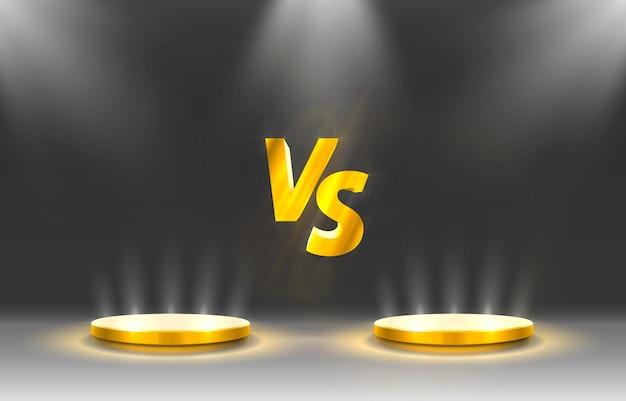 Versus couverture du jeu, bannière sport vs, concept d'équipe