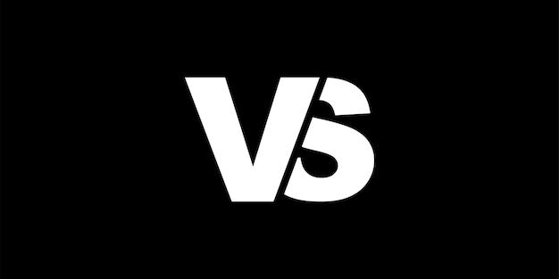 Versus signe contraste illustration vectorielle
