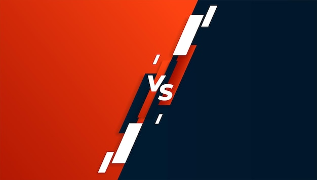 Versus vs bannière de comparaison dans les couleurs rouge et noir