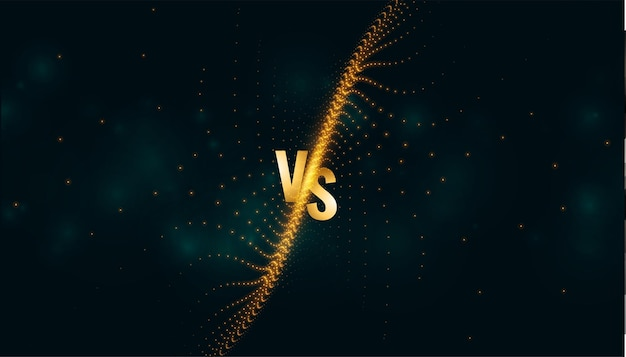 Versus vs bannière d'écran pour comparaison ou bataille sportive