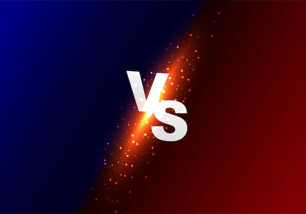 Versus vs fond coloré brillant