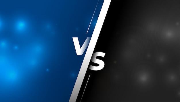 Versus vs fond de comparaison d'écran
