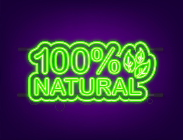 Vert 100 naturel en néon