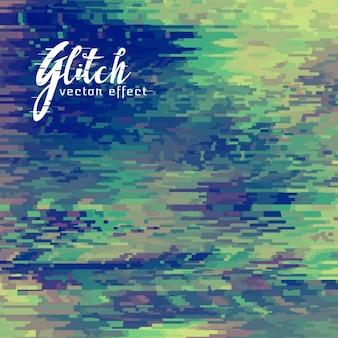 Vert abstrait, effet glitch