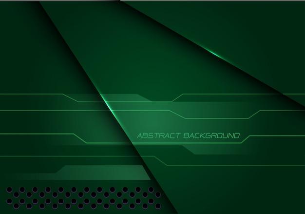 Vert abstrait métallique chevauchent cyber technologie futuriste moderne.