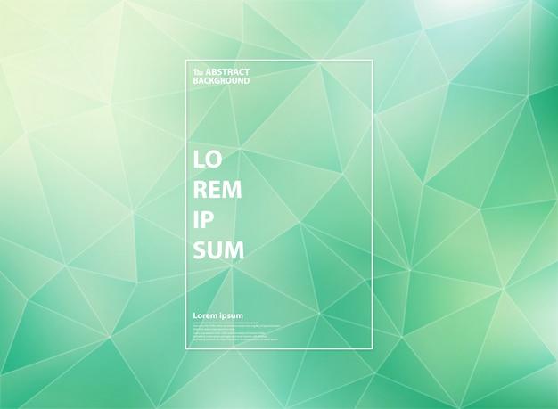 Vert dégradé moderne menthe des motifs de triangle de faible polygone