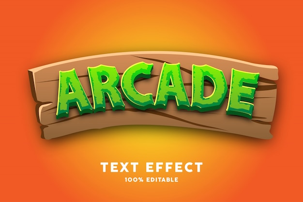 Vert avec effet de style de texte de jeu en bois