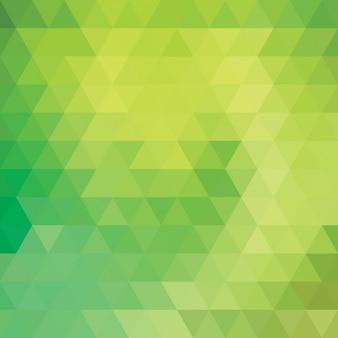 Vert, fond, conception polygonale
