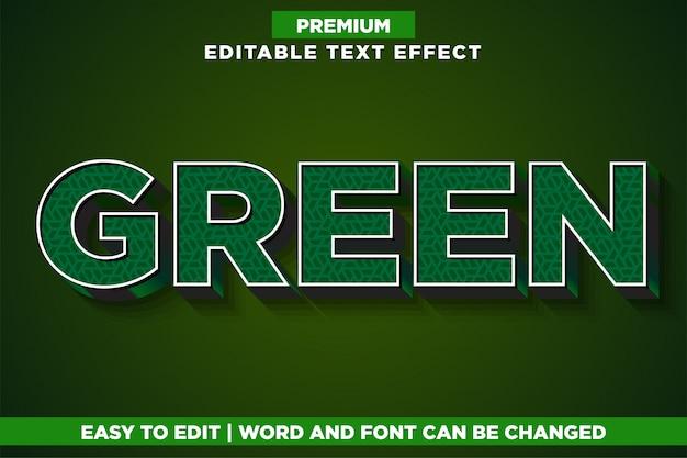 Vert, style de police d'effet de texte modifiable premium