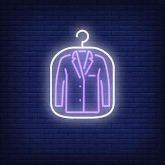 Veste de costume en couverture au néon