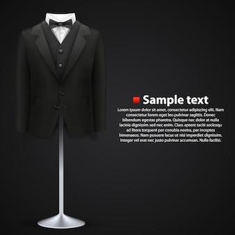 Veste sur fond noir. illustration vectorielle