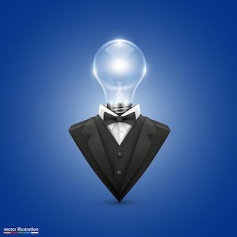 Veste avec lampes frontales art. illustration vectorielle