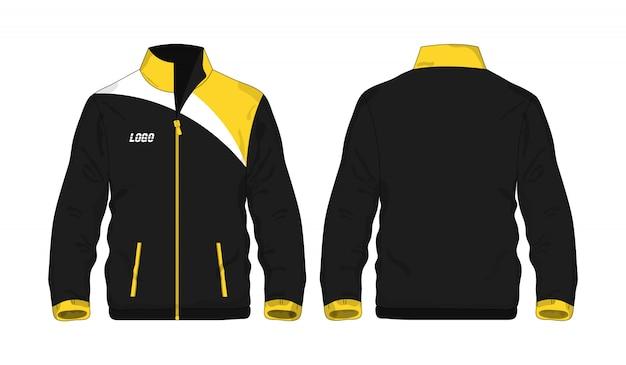 Veste de sport jaune et noir t illustration