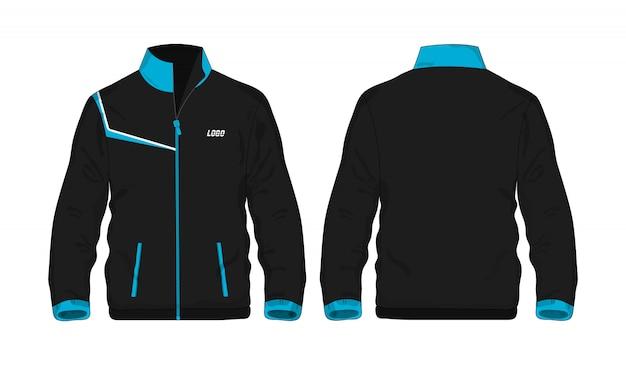 Veste de sport modèle bleu et noir pour la conception.