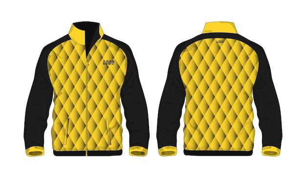 Veste de sport modèle jaune et noir pour la conception sur fond blanc. illustration vectorielle eps 10.