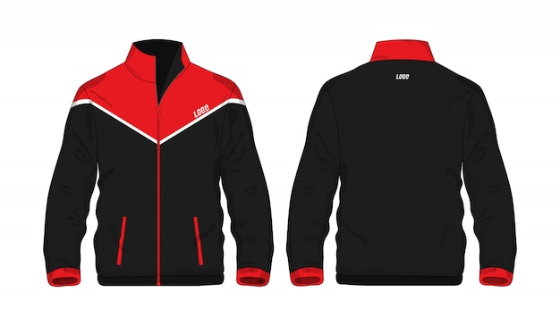 Veste de sport rouge et noir t illustration