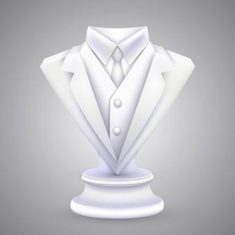 Veste triangle et statue cravate. illustration vectorielle
