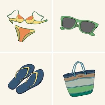 Vêtements et accessoires. set 4