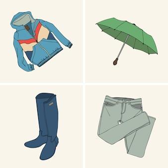 Vêtements et accessoires. set 7